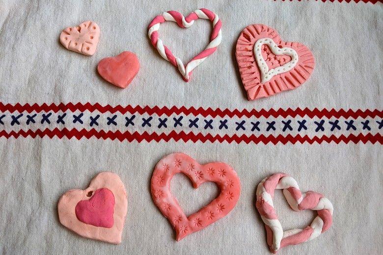 DIY clay hearts