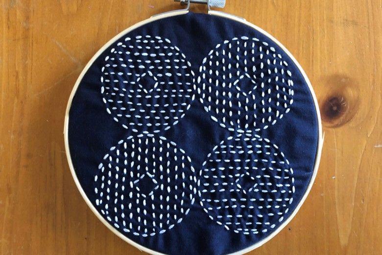 Sashiko embroidery - final product