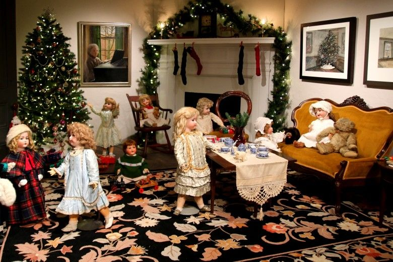 Ann Wyeth McCoy Doll Display for A Brandywine Christmas