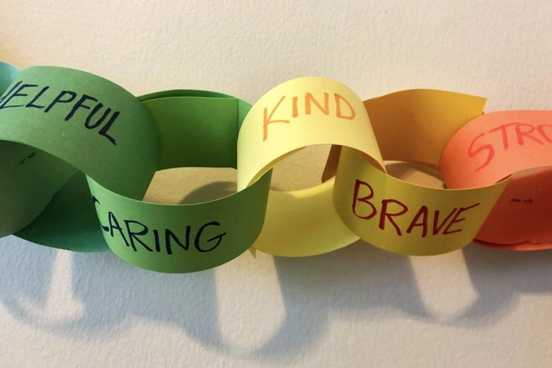 Paper chains with kind messages
