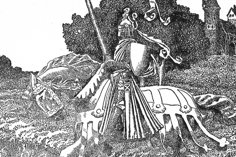 Illustration from The Story of King Arthur and His Knights (1903), written and illustrated by Howard Pyle