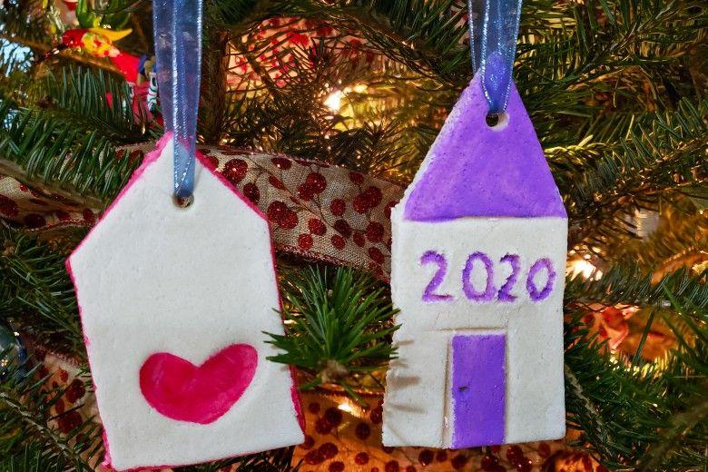 Salt Dough Ornaments on a tree