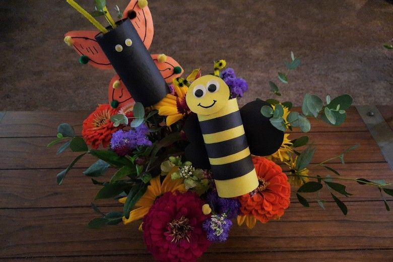 DIY Bees and Butterflies
