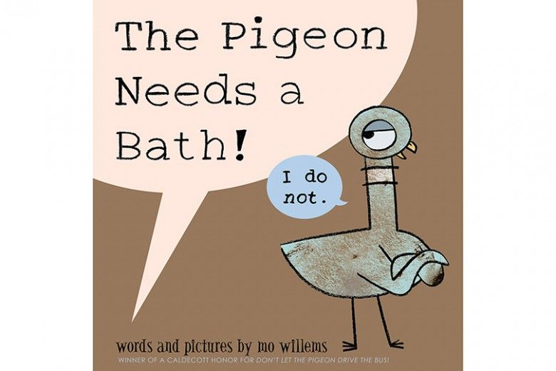 Illustration for The Pigeon Needs a Bath! by Mo Willems (Disney-Hyperion, 2014)