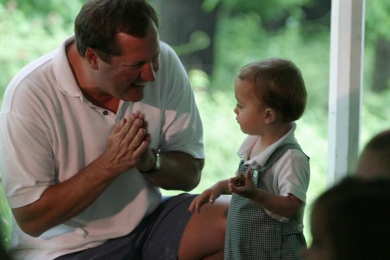 Father with young son at the Brandywine River Museum of Art