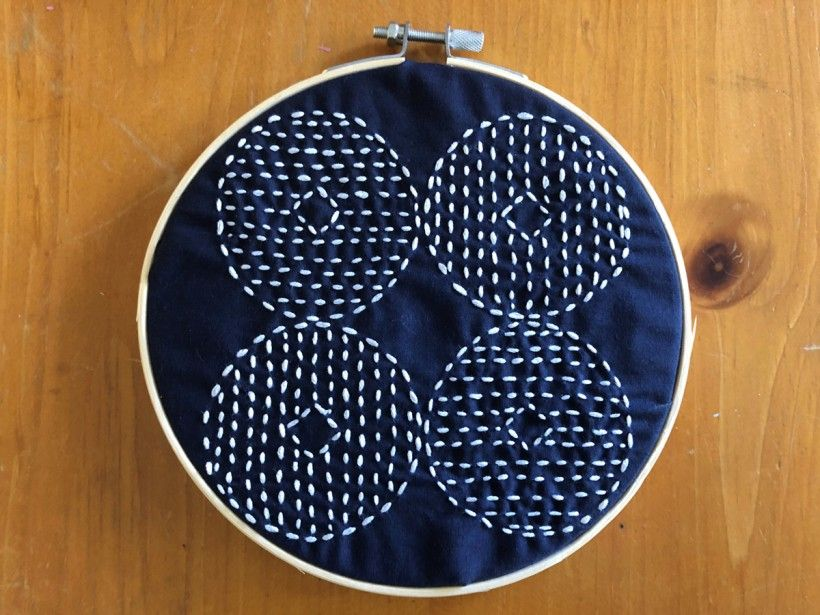 Sashiko embroidery - final product