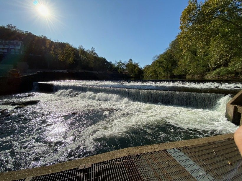 A dam along the Brandywine Creek