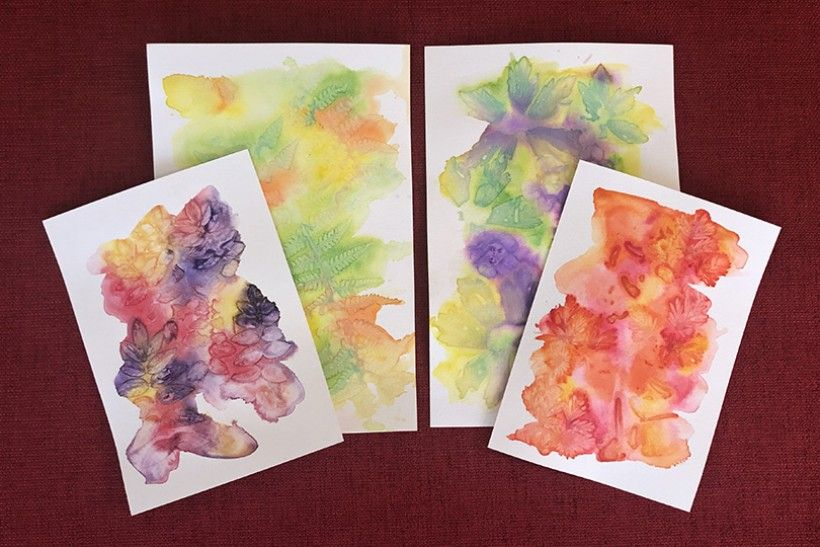 finished watercolor prints