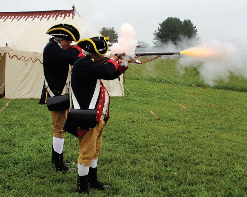 revolutionary war reenactors