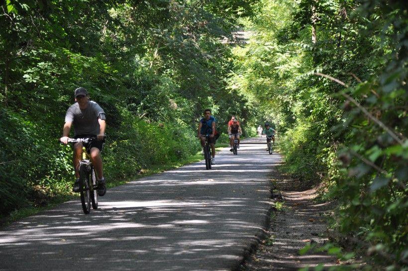Brandywine Creek Greenway Bikers on Trail