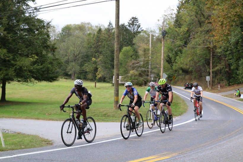 Cyclists during Bike the Brandywine 2019