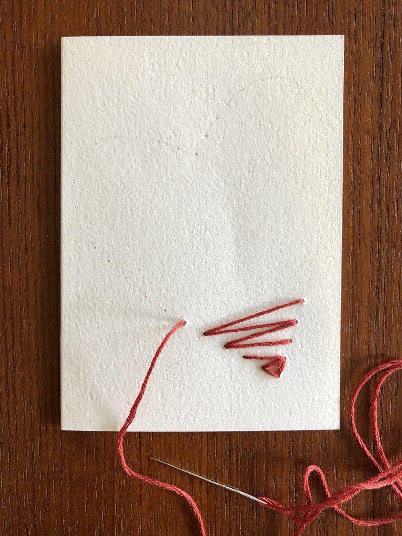 Hand-Stitched Valentine step 9
