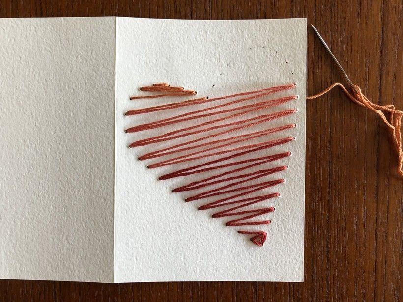 Hand-Stitched Valentine step 10