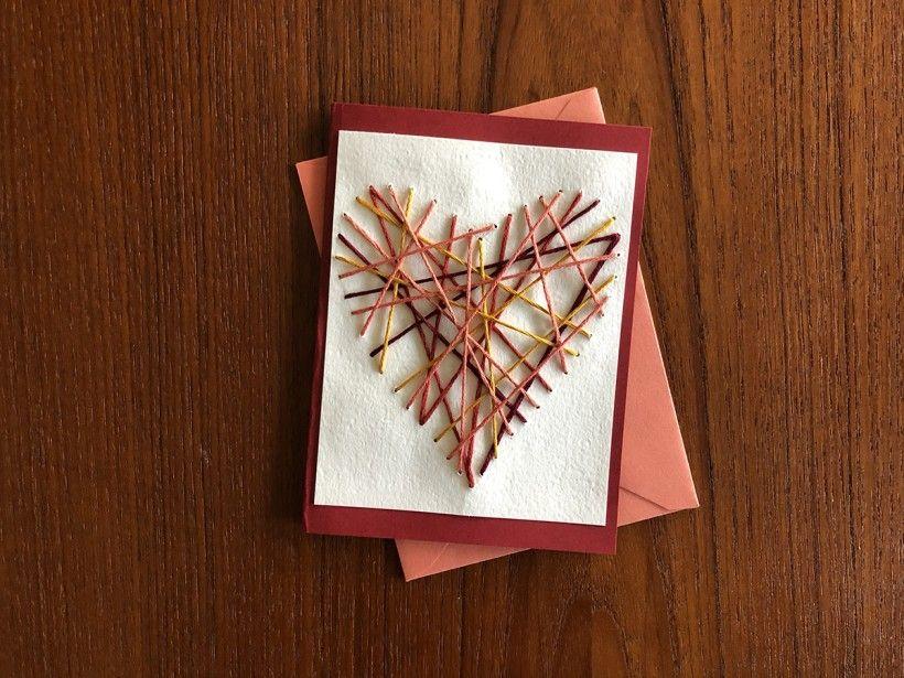 Hand-Stitched Valentine step 12