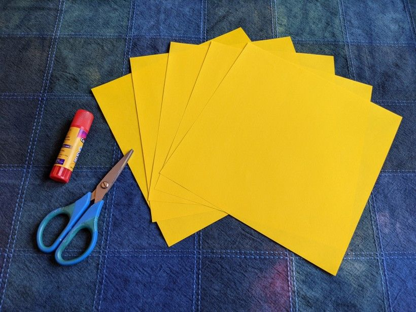 Folded paper star supplies