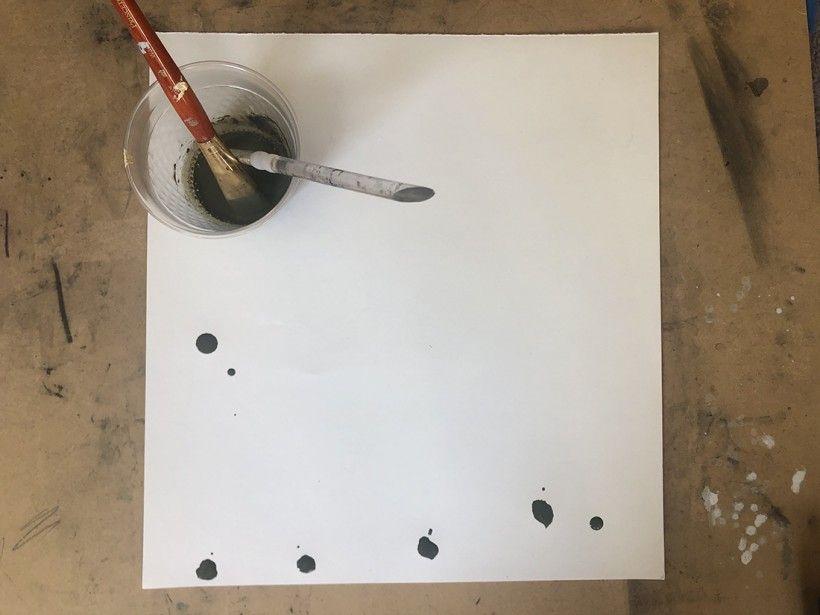Potato printing step 1