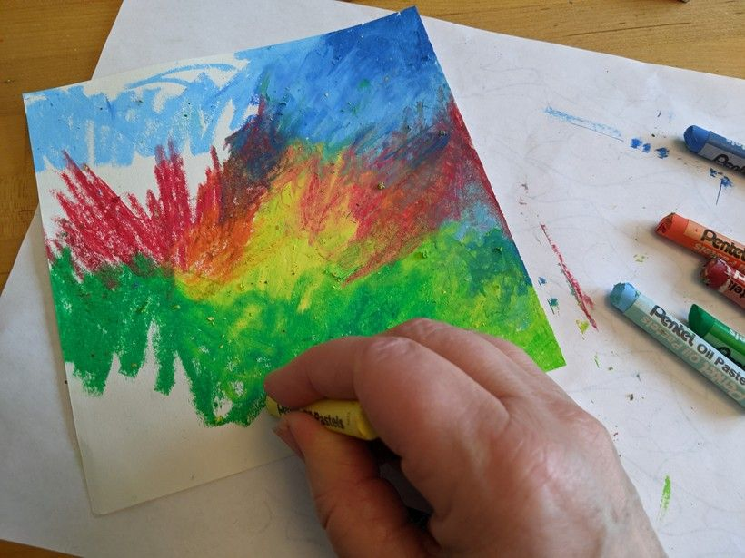 Oil Pastel Transfer Drawings - Step 1