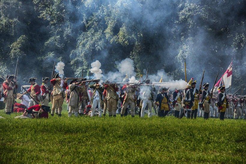 Revolutionary War reenactors. Photo by Ron Zanoni