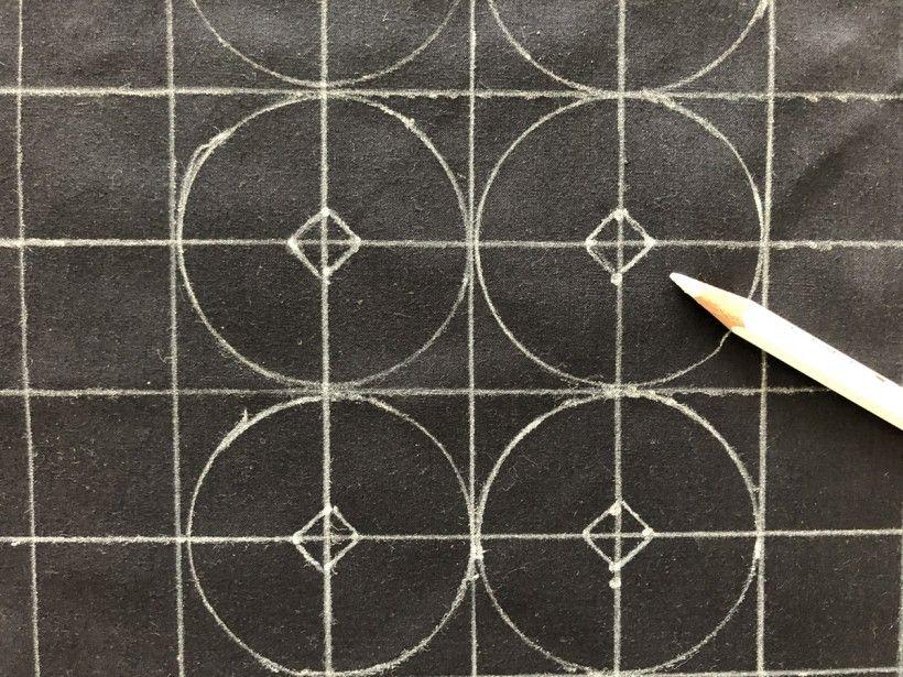 Sashiko embroidery - work in process