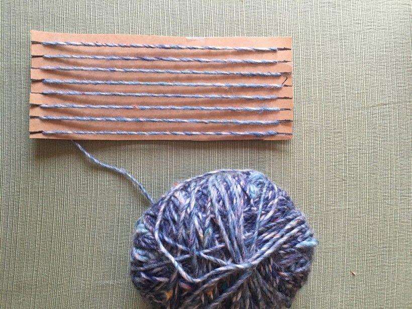 homemade nature weaving step 5