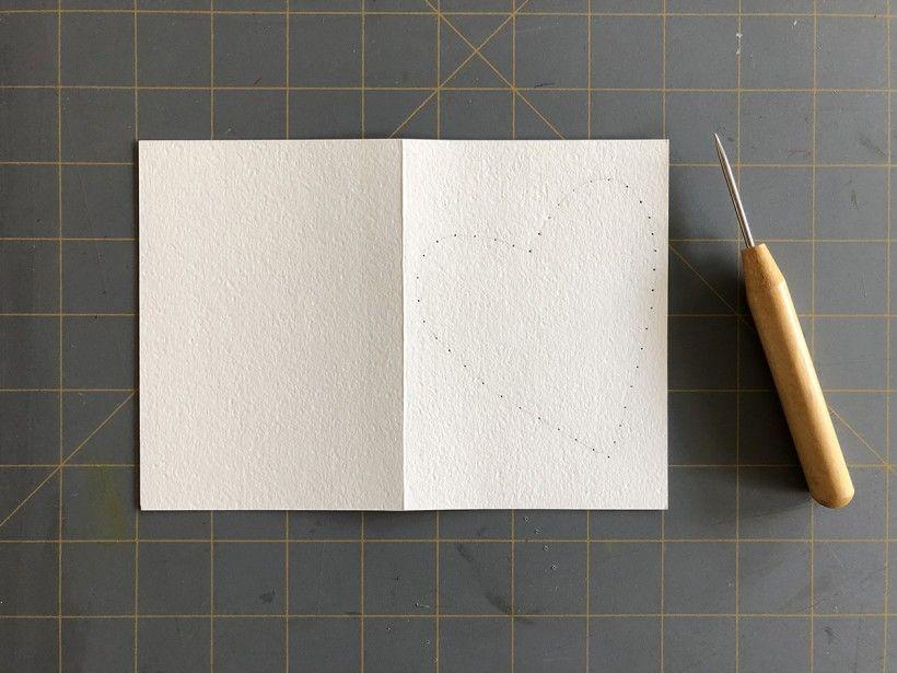Hand-Stitched Valentine step 5