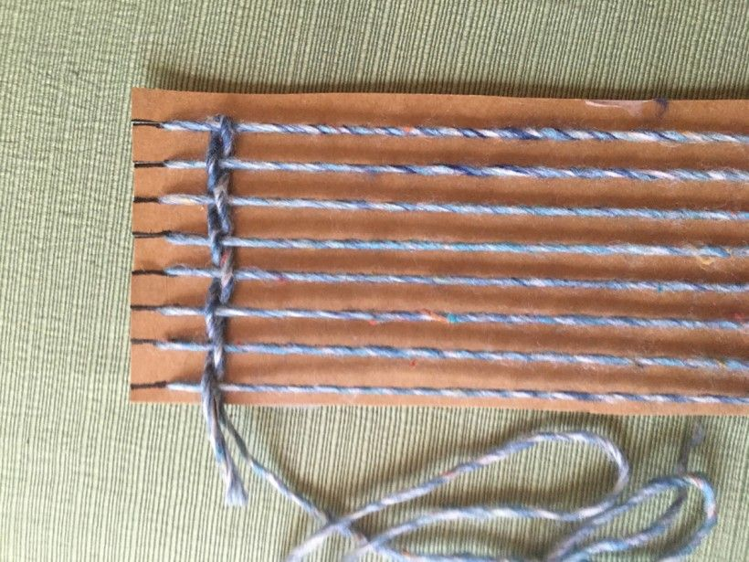 homemade nature weaving step 8