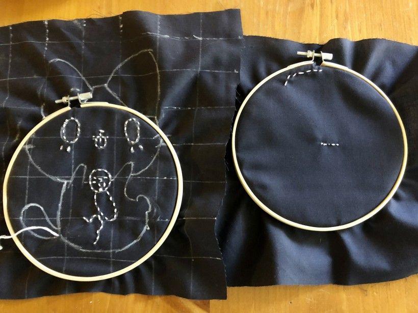 Sashiko embroidery - child version