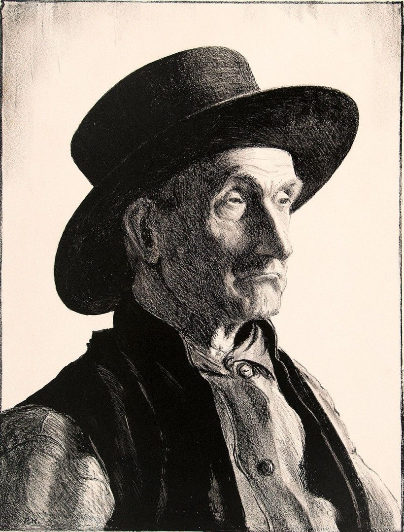Peter Hurd (1904-1984), Pennsylvania Quaker, ca. 1934-35, Lithograph on paper, Brandywine River Museum of Art, Museum purchase, 2013