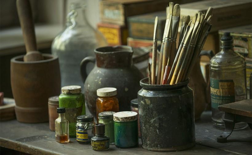 NC Wyeth paint brushes
