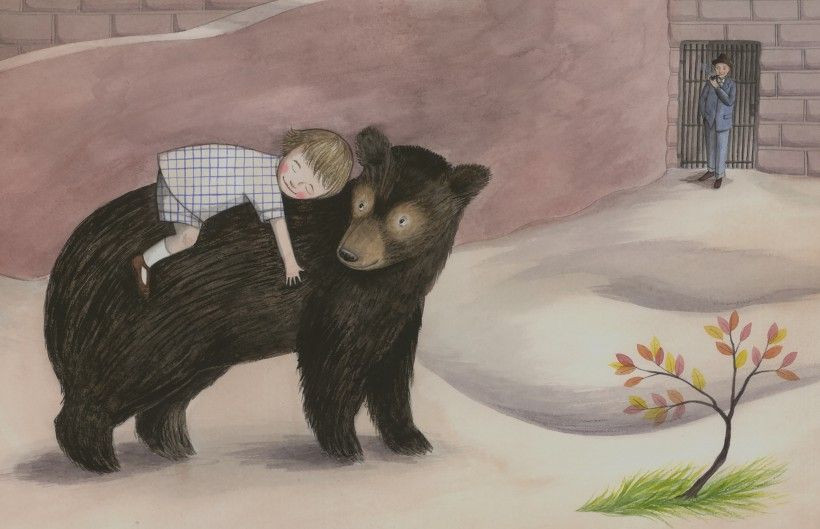 Illustration by Sophie Blackall for Finding Winnie: The True Story of the World's Most Famous Bear, written by Lindsay Mattick (Little, Brown Books for Young Readers, 2015). © Sophie Blackall