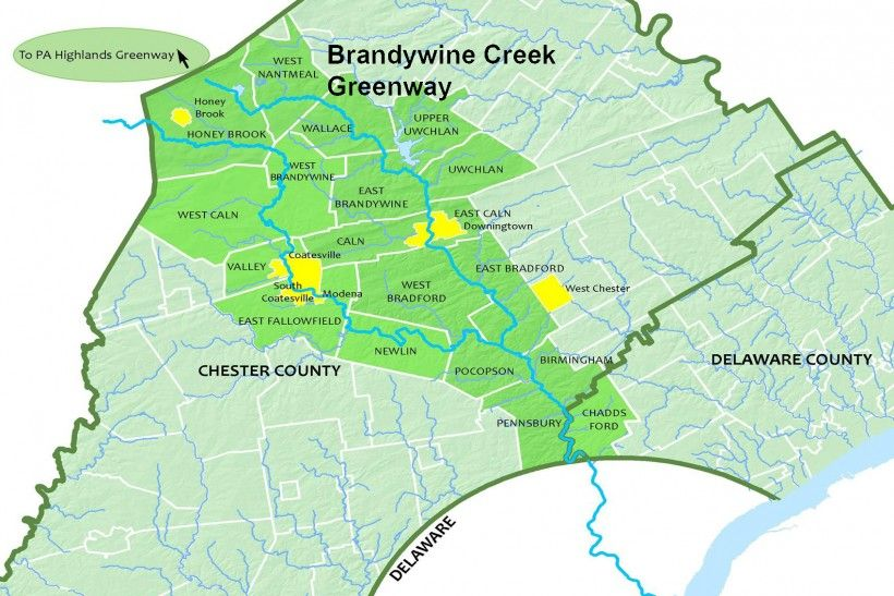 Map of Brandywine Creek Greenway