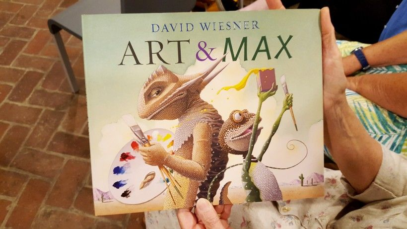 Art & Max book by David Wiesner at a Brandywine River Museum of Art lecture