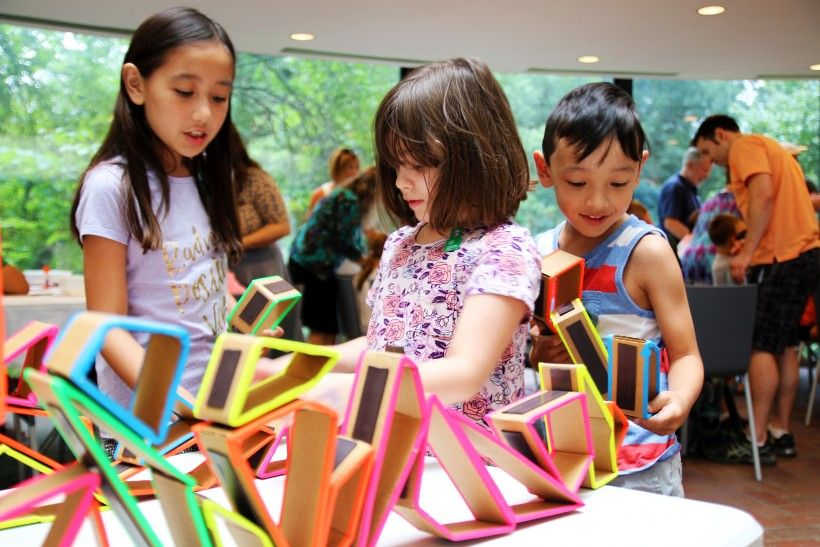 Children enjoying craft activities at the Brandywine River Museum of Art