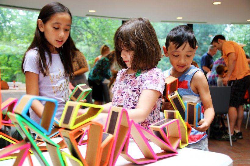 Children enjoying craft activities at the Brandywine River Museum of Art
