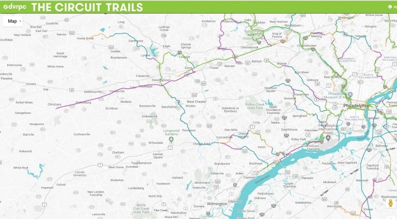 Map of Circuit Trails