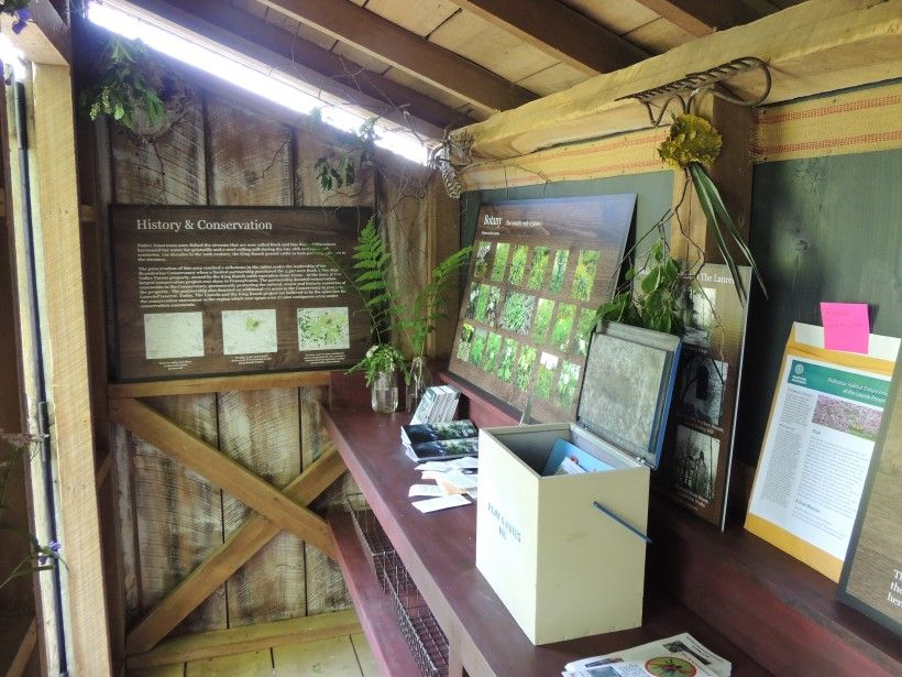 Inside the new Passive Environmental Education Center at the Laurels Preserve