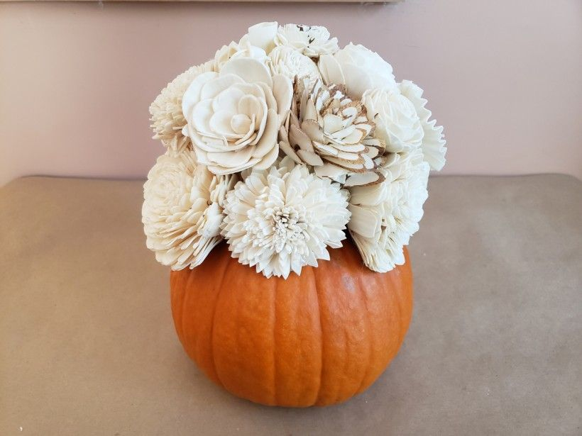 Fall Flower Centerpiece - Step 5