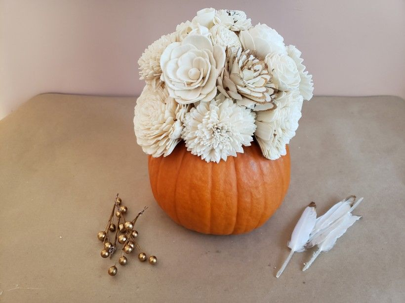 Fall Flower Centerpiece - Step 6
