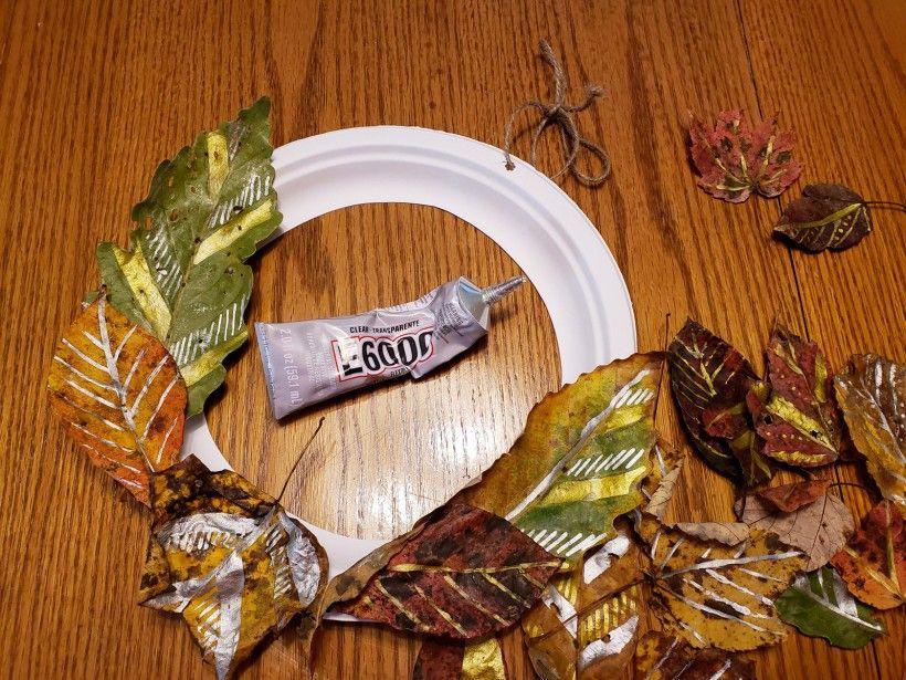 Fall wreath - step 4