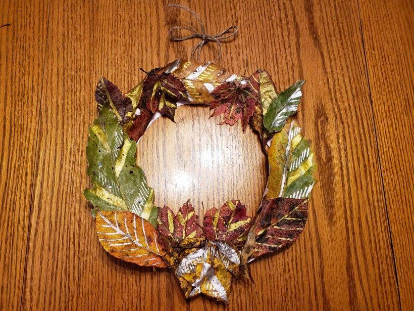 Fall wreath - step 5