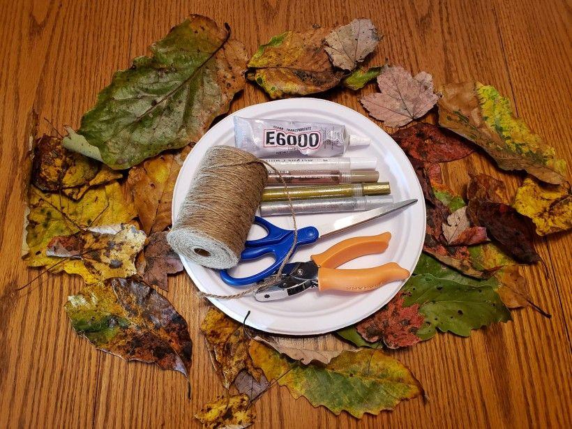 Fall wreath supplies