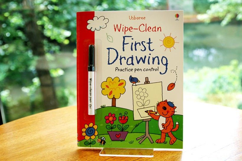 wipe-clean first drawing book