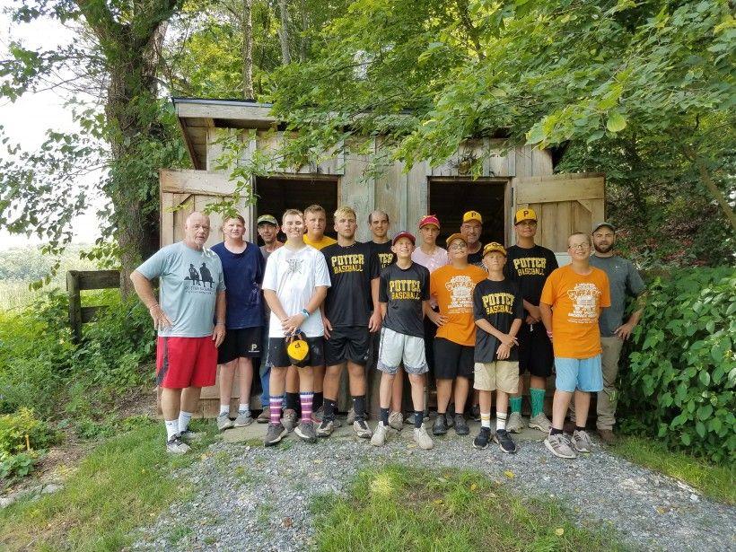 Potter Baseball Team at the Laurels Preserve