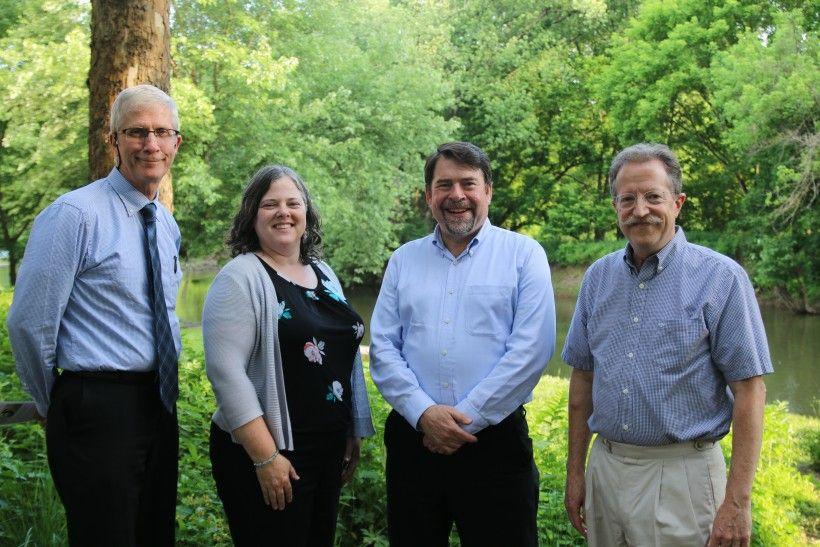 L-R: Daniel Zimmerman, Susan Elks, Robert Graff, and John Theilacker