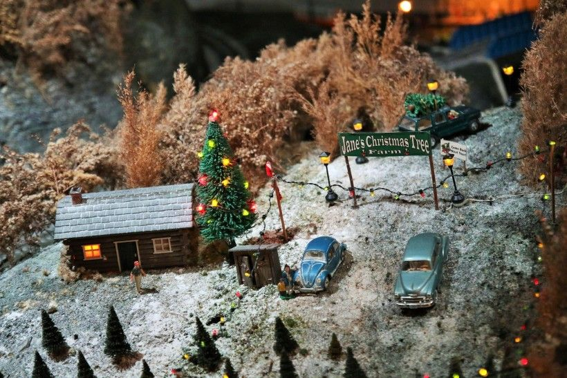 Jane's Christmas Tree Farm, a classic part of our A Brandywine Christmas train display