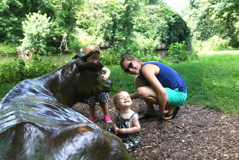 Little Girls and by Miss Gratz sculpture at the Brandywine River Museum of Art