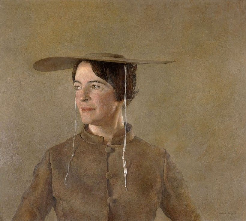 Andrew Wyeth (1917–2009), MAGA'S DAUGHTER, 1966, tempera on panel. Andrew and Betsy Wyeth Collection. © Andrew Wyeth/ARS, NY.