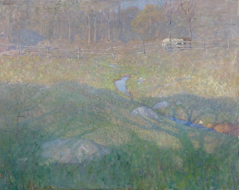 N. C. Wyeth (1882 - 1945), Late Spring Morning, ca. 1915/1917, oil on canvas, 31 3/4 × 39 7/8 in. collections.brandywine.org