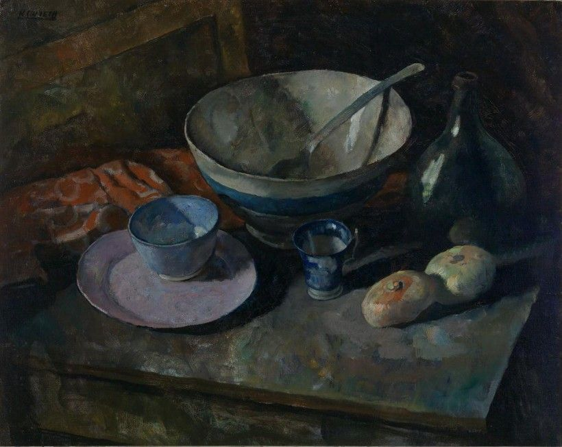N. C. Wyeth (1882 - 1945), Still Life with Onions, ca. 1931, oil on canvas, 32 1/8 × 40 3/8 in. Purchased with funds given in memory of Clement R. Hoopes by his family and friends, 1980