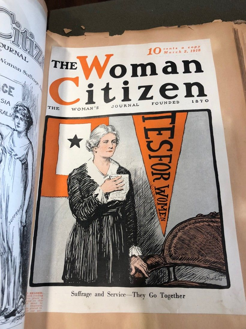 Page from Carrie Chapman Catt Scrapbook, 1910-1940, National Woman's Party Scrapbook Collection